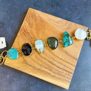 Charles Albert Multi Stone Alchemia Gold Bracelet